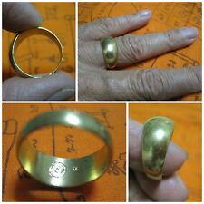 Brass Ring 1991 Size 9 LP Doo Thai Amulet Sacred Talisman Charm H370