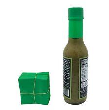 Green 45x52 Heat Shrink Neck Wrap Band Hot Sauce Bottle Tamper Seal 250 Pack