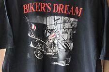 Bikers Dream Chopper Motorcycle Poem Shirt