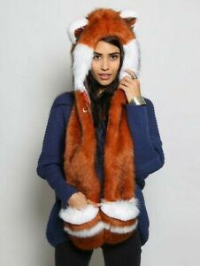Red Panda Spirithoods Spirit Hoods Faux Fur Limited Edition Genuine Hat Scarf...