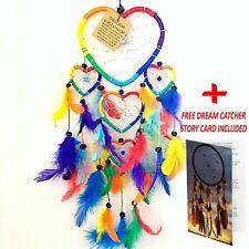 DREAM CATCHER GIRLS BOYS RAINBOW CHAKRA DREAMCATCHER HEART XMAS PARTY BAG FILLER