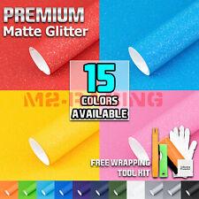 Premium Matte Glitter Sparkle Vinyl Wrap Sticker Decal Sheet Bubble Free Film