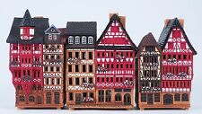 "Ceramic houses incense burners 'Street in Frankfurt"" (3pcs) 14 cm, © Midene"