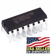 Microchip MCP3008-I/P MCP3008 8-Channel 10-Bit A/D Converters SPI New IC