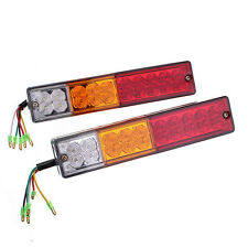 2X 12V LED Truck Trailer Caravan Van Rear Tail Stop Reverse Light Indicator Lamp
