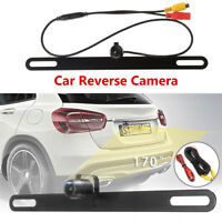 170° Car Reverse Camera License Plate Rearview Kit Aluminium alloy Waterproof