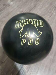 BLACK BRUNSWICK RHINO PRO BOWLING BALL 15 lbs 11 oz