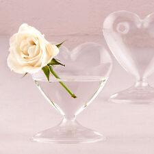16 Blown Glass Heart Vase Vases Wedding Decorations Centerpiece Lot Q17555