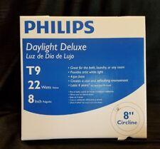 (2) Philips Fluorescent Bulb 22 Watt Daylight Deluxe Circline Lighting T9 8�