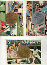 cartolina postale sport 1998 trittico -