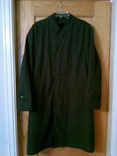 Vtg Brigadier Curlee Mens Military Style Trench Coat Alpaca Pile Removable Liner