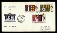 DR WHO 1966 ST VINCENT FDC 20TH ANNIV OF UNESCO  178366
