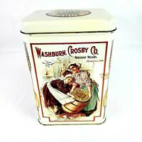 Vintage Washburn Crosby Company Gold Medal Flour Tin Canister Empty Collectibles