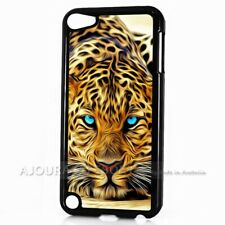 ( For iPod Touch 6 ) Back Case Cover AJ11241 Blue Eye Leopard