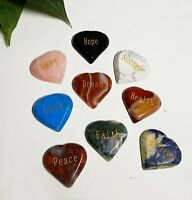 Gemstone Heart Affirmation Stone