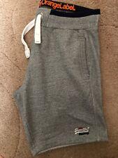 Superdry Mens Summer Orange Label Jogger Sweat Shorts  Grey Xl