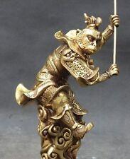 Huge Chinese Folk Bronze Stand Xiyouji Monkey King Sun Wu kong Sun Wukong Statue