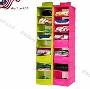 Hanging Activity Daily Shelf Organizer 9  Kids Closet Toys Room Storage Clothes
