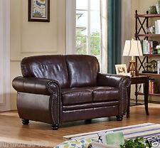 Burgundy Leather 2 Seater Sofa Suite HIGHBURY