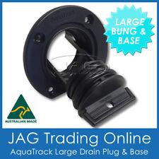 1 x AQUATRACK LARGE BLACK COMPLETE DRAIN BUNG PLUG & BASE-BOAT BUNG COARSE THEAD