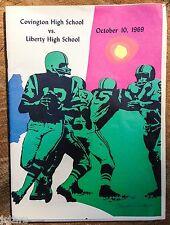 1969 COVINGTON HIGH SCHOOL LIBERTY HIGH FOOTBALL GAME PROGRAM, LYNCHBURG, VA