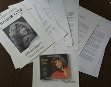 Eurovision Song Contest 1991 Luxembourg Sarah Bray Un Baiser Volé press pack CD