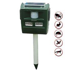 GARDEN SECRETS® Solar Ultrasonic Animal Repellent, Raccoon Skunk Deer repellent.