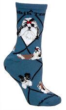 Shih Tzu  Terrier Dog Socks 9-12  Gray Made in the USA-New Wheel House