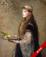THE CAPTIVE JEWISH WOMAN IN BABYLON CARRYING LEMONS PAINTING ART CANVAS PRINT