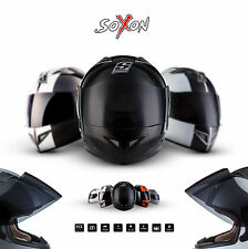⛑ SOXON ST-666 FULL FACE HELMET ⸺ MOTORCYCLE SCOOTER CRUISER BIKER URBAN ⸺ XS–XL