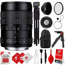 Oshiro 60mm f/2.8 Ultra-Macro Lens for Nikon DSLR & 72-Inch Tripod & Accessories