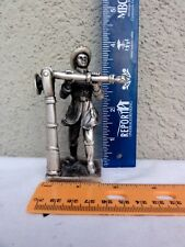 Pewter Fireman Statue  -  Really Different Figure