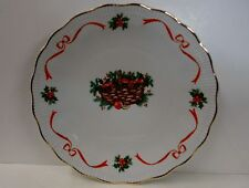Walbrzych HOLIDAY RIBBON (Ribbed) DINNER PLATE with basket More Items Available