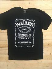 Jack Daniels JD No 7 Inspired Vintage Look Print T Shirt