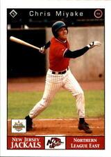 2001 New Jersey Jackals Warning Track 3 Chris Miyake San Gabriel California Card
