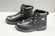 Harley-Davidson Motorcycle Ladies Leather Boots, Size 9, Excellent Condition.