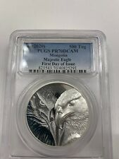 2020 Mongolia Silver Majestic Eagle PGCS PR70 DCAM First Day of Issue FDOI