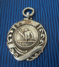 Early Sterling Silver Gymnastics Fob Medal h/m 1926 Birmingham - Parallel Bars