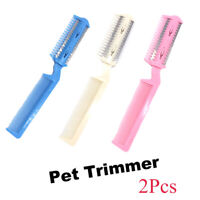 Fur Cleaner Razor Pet Hair Trimming Cat Brush Grooming Comb Dog Scissor