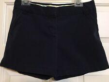 J. Crew size 6 navy blue chino flat front shorts women's