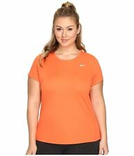 Nike Miler Women's Short-Sleeve Running Top PLUS SIZE 1X (Turf Orange)747056-842