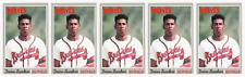(5) 1992 Baseball Cards #65 Deion Sanders Baseball Card Lot Atlanta Braves