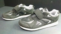 Omega Men's Comfort Zone Black/Gray Athletic Shoes/Sneakers, Size 8
