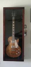 Guitar Display Case/ Solid Hardwood Strat / Gibson Cherry