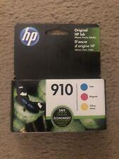 Genuine HP 910 Color Printer Ink Cartridge Cyan Magenta Yellow 3 Pack