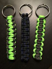 ONE (1) Paracord Keychain KEY FOB 550 Cord USA Custom Colors! TJPARACORD