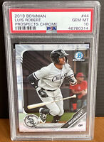 2019 Bowman LUIS ROBERT Prospects Chrome RC Rookie White Sox PSA 10 💎 Mint GG