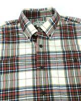 Orvis Mens Size M Medium Plaid Long Sleeve Shirt 100% Cotton Button-down EUC d