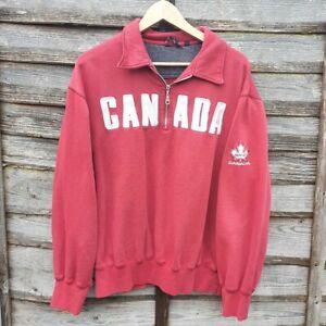 Vintage Canada Spellout Big Logo Sweatshirt From USA
