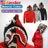 SHARK Head Camo Bape A Bathing Ape Jacket FULL ZIP HOODIE Long Sleeve Coat